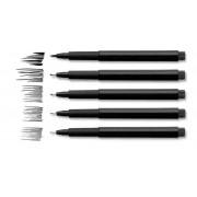 Pitt Artist Pen Faber-Castell 4 buc negru, etui plastic