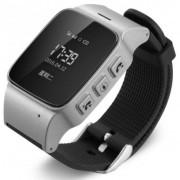 "Smartwatch iUni U100, OLED 0.96"", 2G, GPS, Bratara silicon, dedicat pentru copii (Gri/Negru)"
