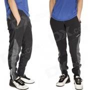Pantalones de Acacia para hombres con estilo poliester + Spandex Ciclismo - Negro (XL)