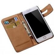 macio do teste padrão pu capa de couro carteira para iphone 6s 6 mais