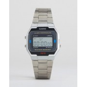 Casio A163WA-1QES Digital Bracelet Watch In Silver - Silver (Sizes: )