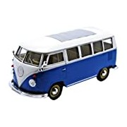 Welly 22095 Model VW Bus T1 1962 1:24 Scale Metal Collector's Model Blue