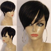 rosegal Short Inclined Bang Layered Straight Synthetic Wig