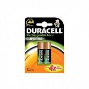 Batteria Pila Duracell Stilo AA Ricaricabile Originale Supreme in Blister X2