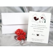 invitatii nunta cod 30013