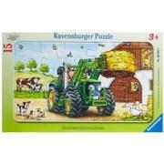 Puzzle Tractor La Ferma, 15 Piese