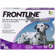 Frontline Plus 3pk Dogs 45-88 lbs by MERIAL