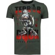 Local Fanatic Terror Duck - Rhinestone T-shirt - Groen