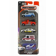 Matchbox On A Mission - City Works 5 Pack, Colors and Styles may vary