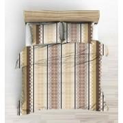 Exkluzív 100% pamut 5 részes ágynemű garnitúra 200x220 cm paplanhuzattal - szürke barokk mintás