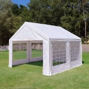 Profizelt24 Partyzelt 3x5m PE weiß Gartenzelt, Festzelt, Pavillon