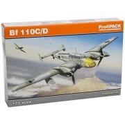 Eduard Plastic Kits 7081 - Kit professionale in plastica per costruzione modellino aereo Bf 110C/D in scala 1:72