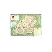 Harta Judetul Sibiu (sipci de plastic)