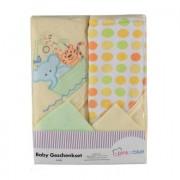 Pink or Blue Wassetje 4-delig groen