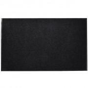 vidaXL Изтривалка за входна врата от PVC, черна, 90 х 120 см