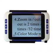 Eyoyo 3.5 pulgadas Lupa Ayuda portátil de lectura electrónica de vídeo digital portátil con múltiples modos de color