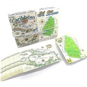 St. lucia Map Deck and Caribbean Map Deck Souvenir Playing Cards Tourist Gift Vacation Gift Two Deck Set