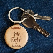 MyGiftDna Mr. Right - Brelok drewniany - Drewniany brelok