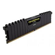 Corsair CMK32GX4M2A2666C16 Vengeance LPX Kit di Memoria da 32 GB, 2x16 GB DDR4, 2666 MHz, CL16 XMP 2.0 High Performance, Nero
