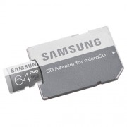 CARD DE MEMORIE SAMSUNG MICROSDXC PRO 64GB + ADAPTOR