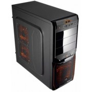 Aerocool V3X - Midi Tower Evil Black Edition - Midi-Tower Black/Orange