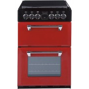 Stoves Richmond MiniRange 550E Jalapeno Ceramic Electric Cooker with Double Oven - Red