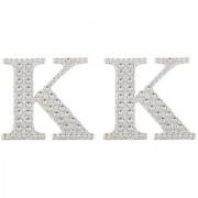 Magideal 2Pcs Self Adhesive Letters Diamante Post Box Favour Embellishment Crafts K