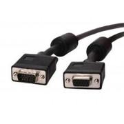 Wiretek PV11E VGA dugó - VGA aljzat hosszabbító kábel 1,8m (ferrit szűrővel)