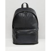 ASOS Черный кожаный рюкзак ASOS - Черный