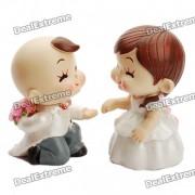 Resina Romantic Couples Proponer Toy Doll Escritorio