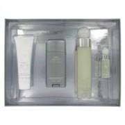 Perry Ellis 360 White Eau De Toilette Spray + Deodorant Stick + After Shave Balm + Mini EDT Spray Gift Set 456640