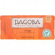 Dagoba Organic Chocolate Chocolate Bar - Organic - Dark - 59 Percent Cacao - Orange - 2 oz - case of