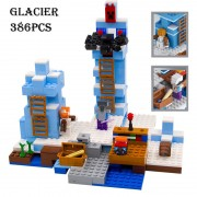 Model building kits compatible with lego 21131 18025 my worlds MineCraft The ice spikes Educational toys hobbies for children
