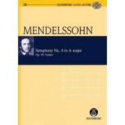 Symphony No. 4 Italian: Eulenburg+pocket Score AND Audio CD by Felix Mendelssohn