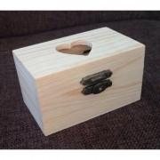355235 - Cutie mini lemn - inima