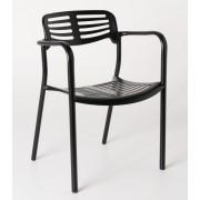 Replica Toledo Chair-Black Aluminium base
