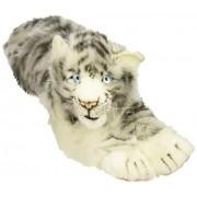 "White Siberian Tiger Cub Lying By Hansa 21"" L"