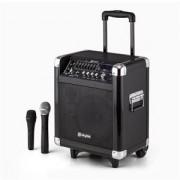 Skytec ST-065 sistem portabil PA 200W Acumulator Bluetooth USB SD MP3 VHF incl. 2 x microfon (Sky-170.062)