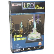 Statue of Liberty 3D Puzzle with LED 37 Pieces