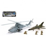 NEWRAY MILITARY MISSION - 1:55 BELL AH-1Z COBRA WITH FIGHTER JET AND SOLDIERS