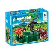 Playmobil wild 5273 life gorilles et okapis avec vegetation