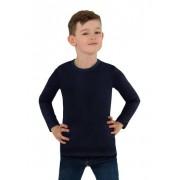 Trigema Jungen Langarm-Shirt Größe: 140 Material: 95 % Baumwolle, Ringgarn supergekämmt, 5 % Elastan Farbe: navy