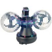 Lunartec Boule à facettes motorisée avec LED multicolores - Version double