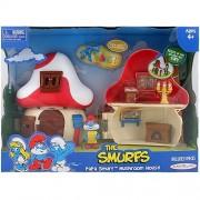 Smurfs 2 Inch Articulated Mini Figure Playset Papa Smurf with Mushroom House