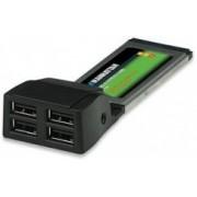 Manhattan ExpressCard 158299, Alámbrico, 480 Mbit/s, 4x USB 2.0