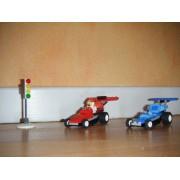 Lego Racers 4593 - 2 Voitures De Course Et 1 Pilote