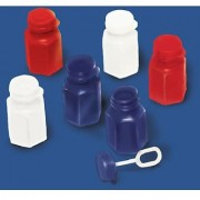 Amscan Star Spangled 4th of July Party Patriotic Bubble Bottle (24 Piece) Red/White/Blue 4.6 x 7.3