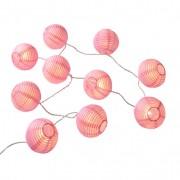 LED-lampionslinger, roze