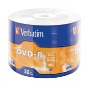 DVD-R 16x Verbatim Matt Silver Azo Bobina 50 uds