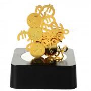 Creative Magnetic Coins Building Educational Toy / Desk Table Decoration - Black + Golden